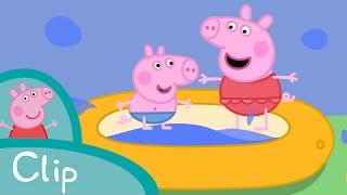 Peppa Pig Episodes - Paddling pool (clip) - Cartoons for Children