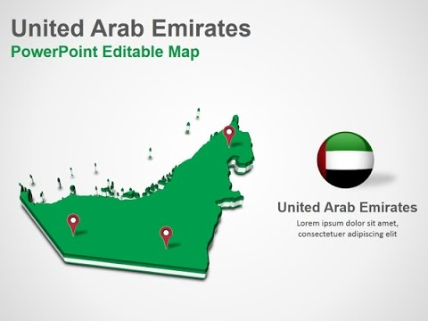 United Arab Emirates PowerPoint Map Slides - DigitalOfficePro #034M00