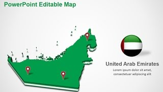 United Arab Emirates PowerPoint Map Slides - DigitalOfficePro #034M00