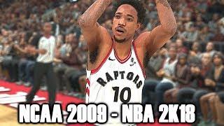 DeMar DeRozan Through The Years - NCAA Basketball 09 - NBA 2k18