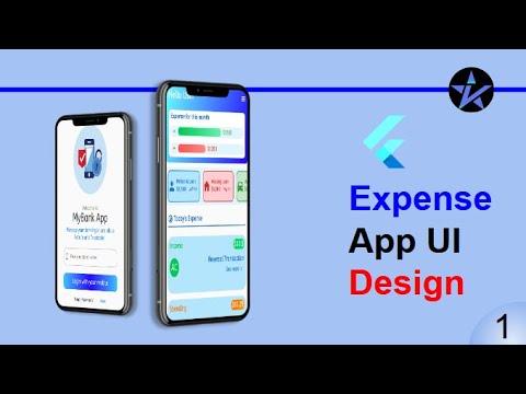 Expense Management App - Flutter Tutorial - Flutter UI Template - Part-1