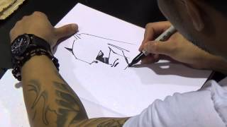 Francis Manapul drawing Batman