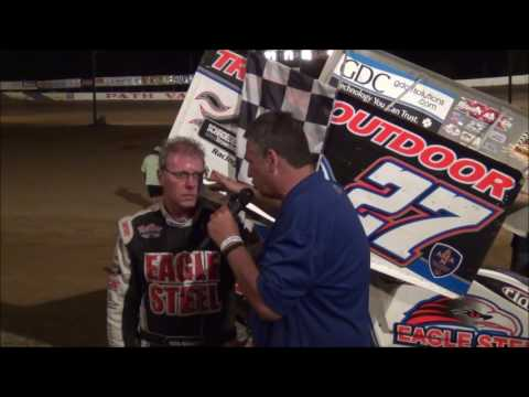 Greg Hodnett in victory lane at Path Valley 6-26-16