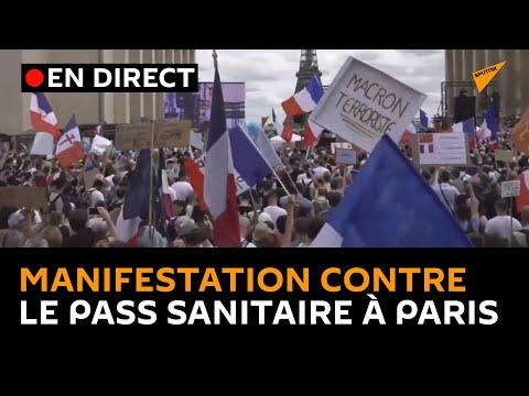🔴 Une manifestation contre le pass sanitaire se déroule à Paris ce 24 juillet