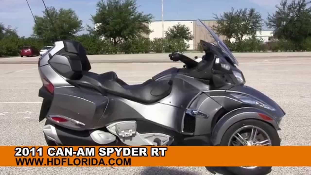 Used 2011 can am spyder rt trike for sale in florida three wheeler