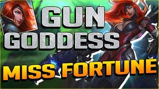 4 SKINS IN 1?? NEW GUN GODDESS MISS FORTUNE ULTIMATE SKIN GAMEPLAY - League of Legends PBE