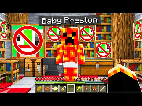 7 Secrets about Baby Preston!  Minecraft