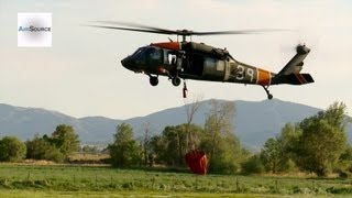 UH-60L Blackhawk Helicopter Aerial Firefighting