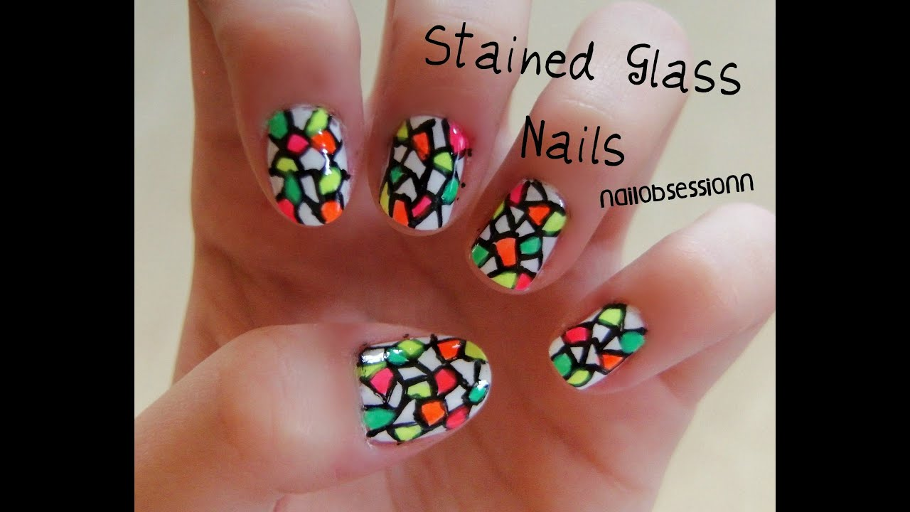 Stained Glass Nails! - YouTube