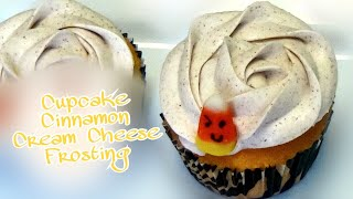 Candy Corn Cupcakes With Cinnamon Cream Cheese Frosting ♥