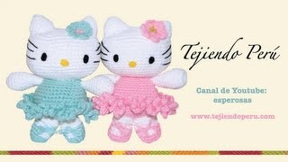 Repeat youtube video Hello Kitty tejida a crochet (amigurumi)  Parte 1: cabeza