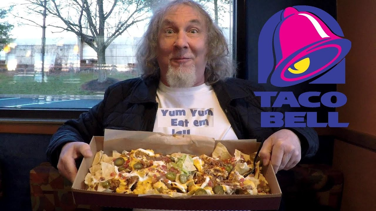 Eating Taco Bell 10 Nachos Party Pack Challenge Youtube