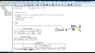 Paired samples t test in SPSS video 2: calculating and interpreting Cohen's d