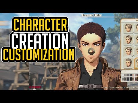 Attack On Titan 2 CHARACTER CREATION And CUSTOMIZATION (All Options)
