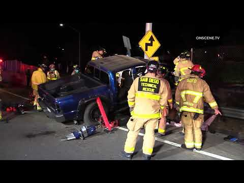 San Diego: Mission Valley Extrication Crash 03072021 (UPDATED VIDEO)