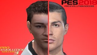 CRISTIANO RONALDO FACE EVOLUTION FROM PES 3 TO PES 2018