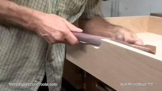 827. Drawer Pull Clean Up • Table Saw Work Station Series