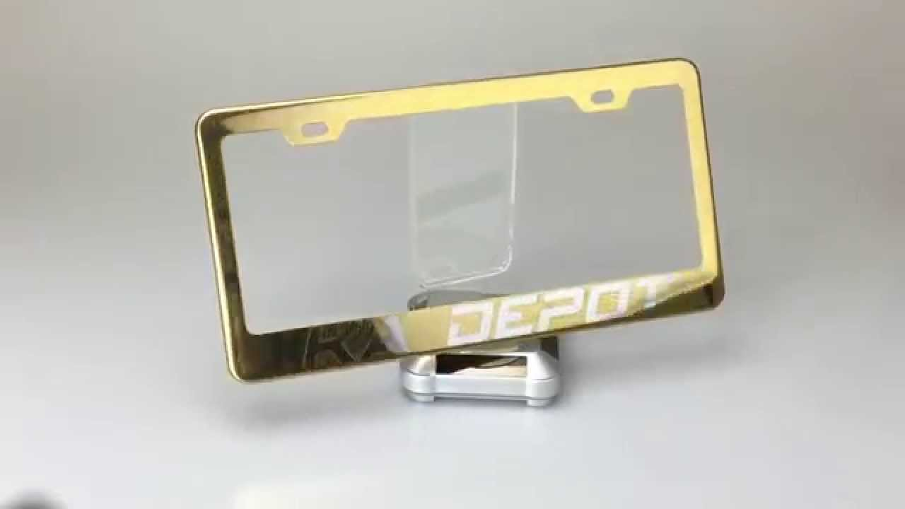 Custom Personalize Gold Stainless Steel License Plate Frame By KA ...