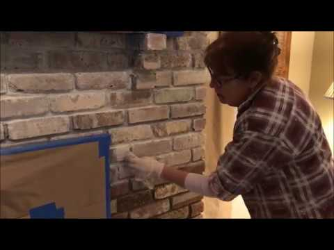 How To Distress Your Fireplace   Applying The White Wash   Morris County Paint Contractor