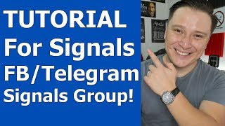 TUTORIAL to Post and Follow Trading Signals in my Facebook/Telegram Signals Group!