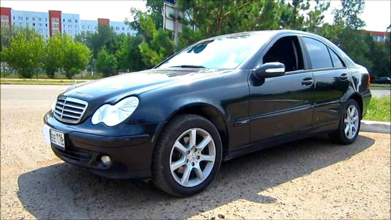 2005 mercedes-benz c180 kompressor. start up, engine, and in depth
