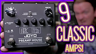 9 amps, 18 channels! JOYO Preamp House is a POWER HOUSE of tone