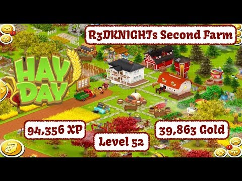 Hay Day Live - R3DKNIGHTs Second Farm, Level 52, 94K XP and 39K Coins - Lets Play.