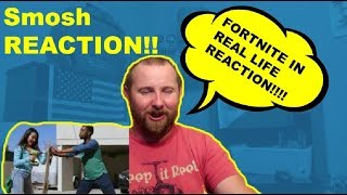 FORTNITE IN REAL LIFE Smosh REACTION!!!