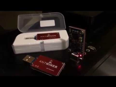 AntMiner U1 USB Bitcoin Miner Test Video