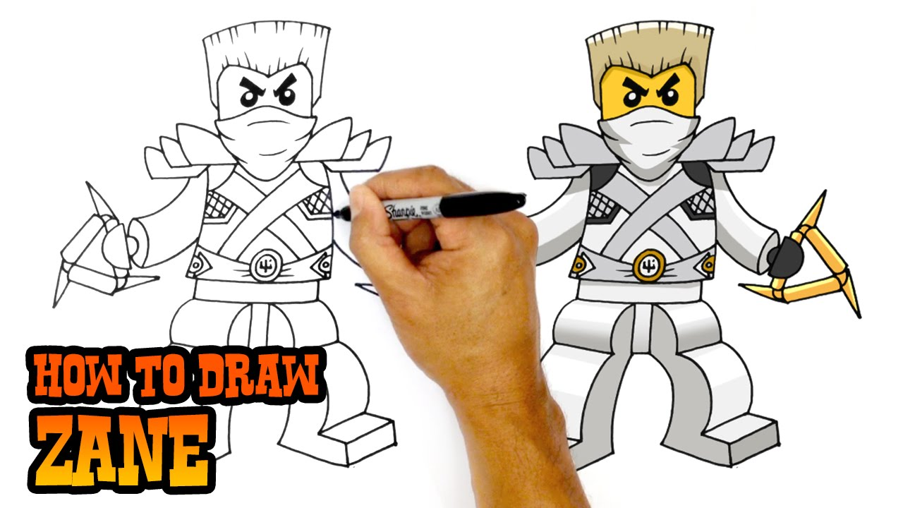 How To Draw Ninjago Zane Youtube
