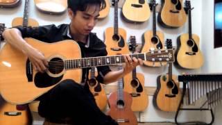 nhạc cụ vũ uyn guitar acoustic morris w 50