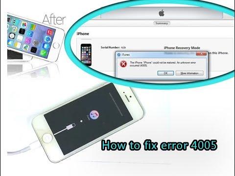 Fix iPhone 5 iTunes Error 4005 Restore Hardware Repair / исправление