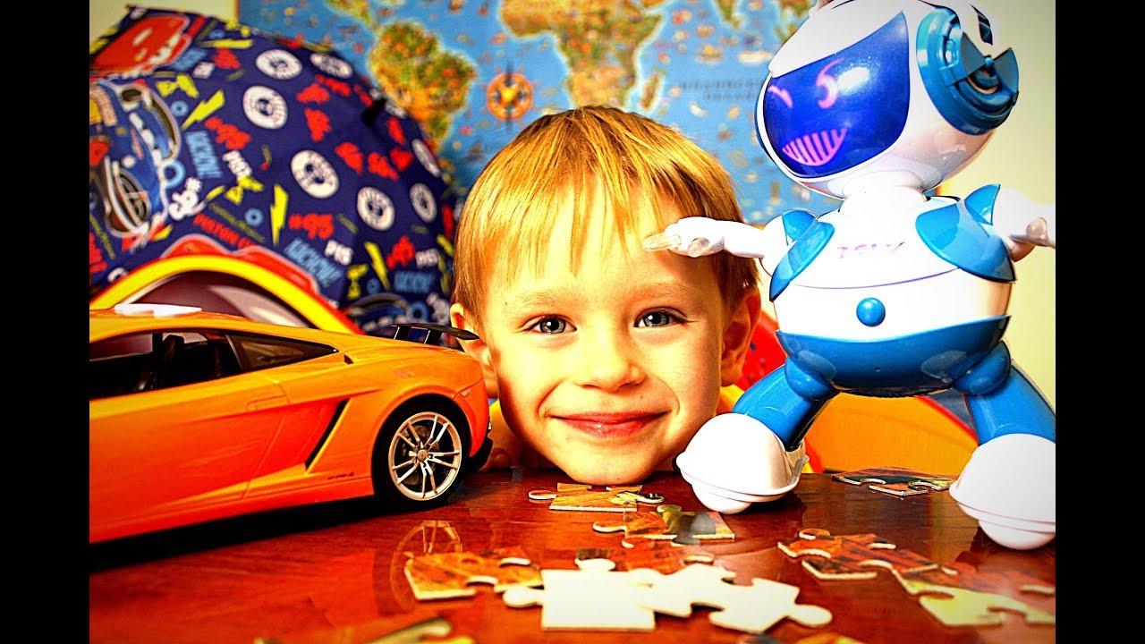 Роботы для детей  Игрушки для мальчиков как Тоботы Детское видео 2018 Гришка и игрушечные машинки
