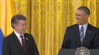 The President Speaks at the Plan Colombia Reception