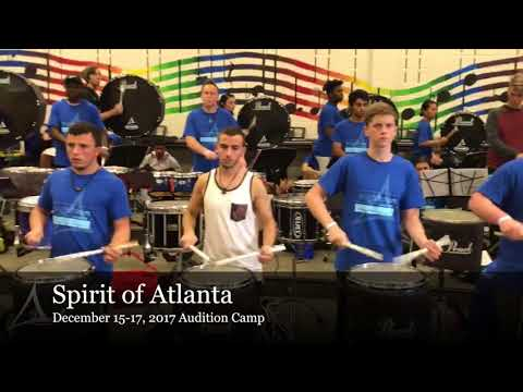 Spirit of Atlanta Percussion, December 15-17, 2017 Audition Camp