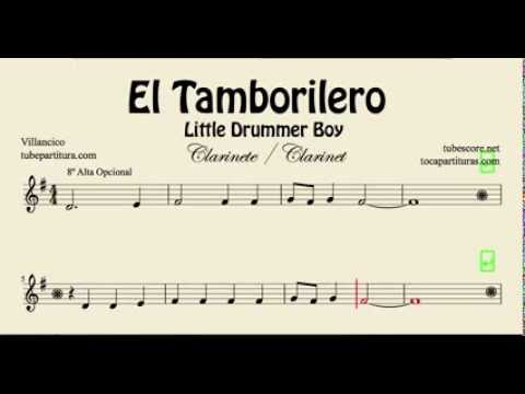 Little Drummer Boy Sheet Music for Clarinet El Tamborilero