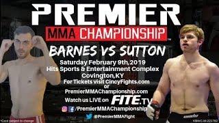 Premier MMA Championship 11 Cole Sutton vs Albert Barnes