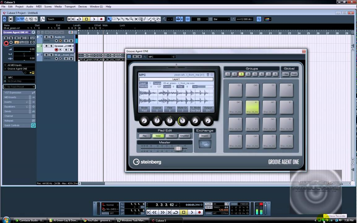 Chopping a sample in Cubase 5, Groove Agent One - YouTube
