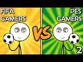 FIFA Gamers VS PES Gamers (Here We Go Again)