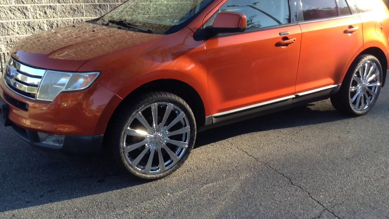 Ford Edge Sitting On  Borghini B Chrome Wheels And  Federal Tires