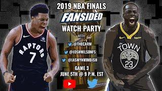 2019 NBA Finals:  Golden State Warriors vs. Toronto Raptors (Game 3)