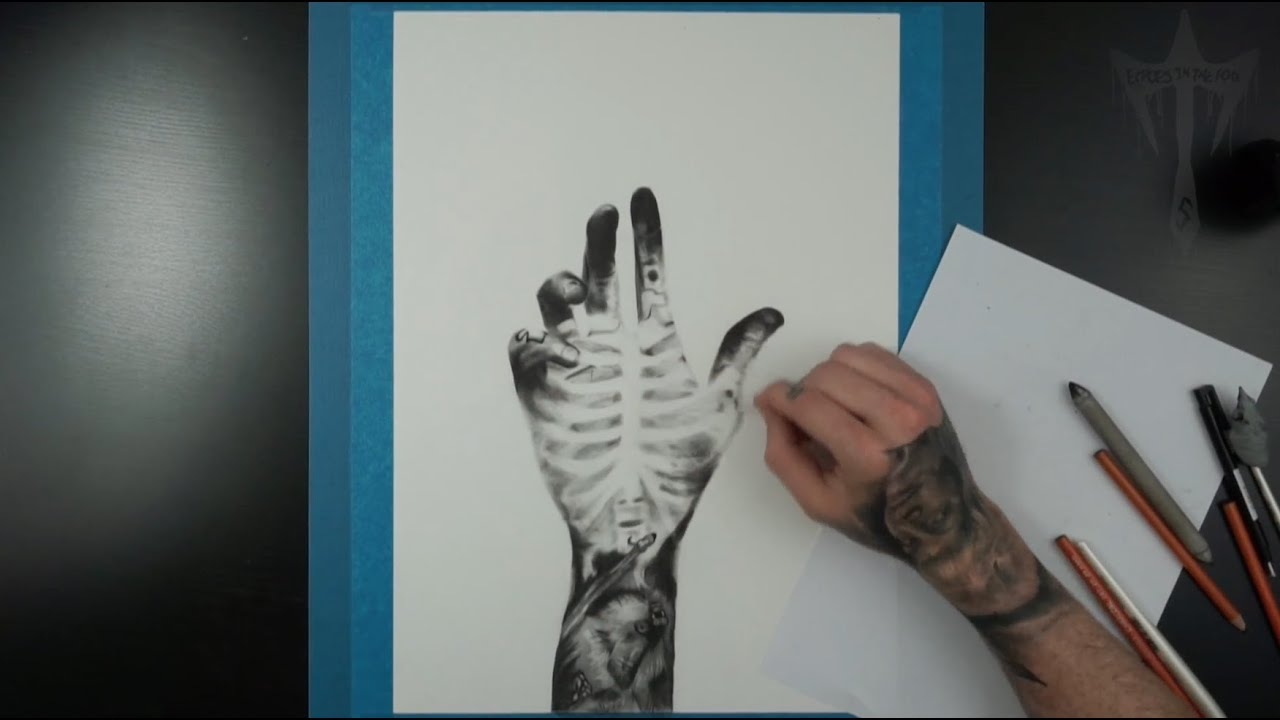 "Depersonalization Art Realistic Hand Drawing Charcoal Surrealism "" Feel Time Lapse"