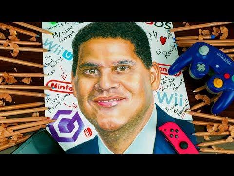 Drawing Reggie Fils-aime Tribute Nintendo Of America President: My Body Is Ready Thank's Reggienator