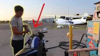 We Put AIRPLANE Fuel In a Motorcycle!!