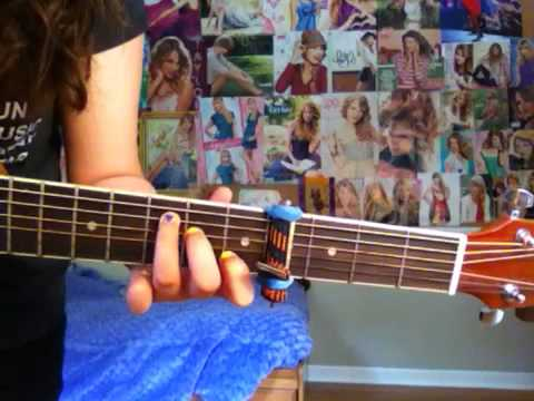 We Cant Stop Guitar Tutorial Miley Youtube