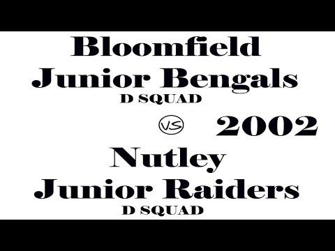 Bloomfield Jr. Bengals vs Nutley Jr. Raiders | D-SQUAD | 2002