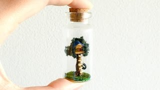 Mini Treehouse in a Bottle Tutorial
