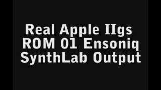 Apple IIgs Emulation SynthLab Audio Output Comparison
