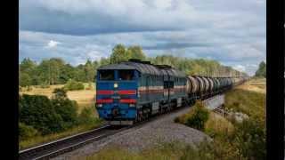 Товарные поезда России - 2 [HD]