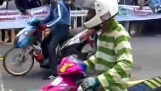 DRAG RACE MOTOR - [ Drag Bike Mio vs Fino Thailand ]